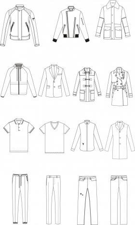 男装商务休闲款式图