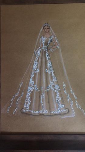 婚纱礼服,刺绣,衍纸画