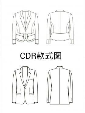 CDR绘制款式图