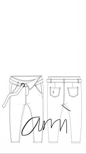 牛仔老爹裤