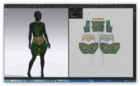 女装制版3D效果图