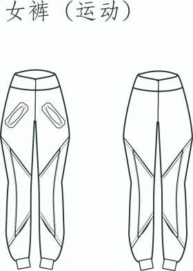 裤装设计款式图