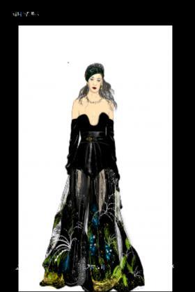 近期做的服装原创设计效果图。
