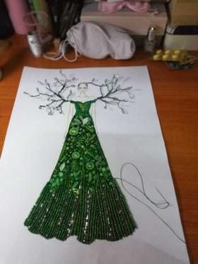 手绘,手工艺制作的效果图。