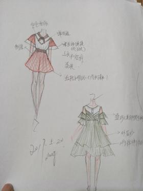 韩版时尚女童装设计手稿
