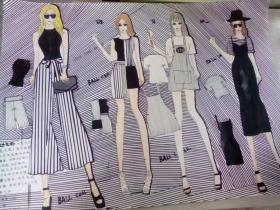 图一偏女装时尚系列,图二复古系列.