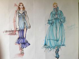 服装款式图效果图手绘
