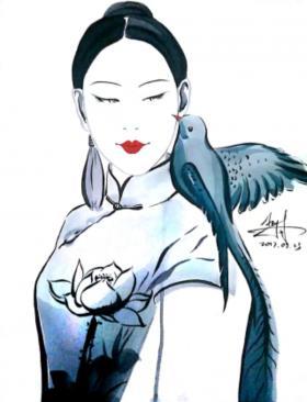 旗袍设计手绘