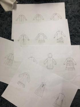 手绘童装款式图