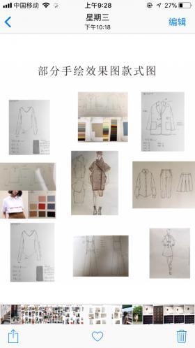 手绘设计稿+成衣图+风格图+软件设计稿