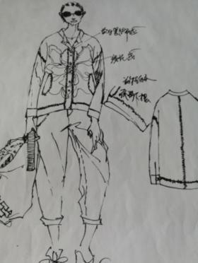 棉麻休闲系列手绘