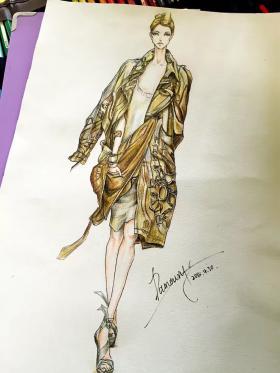 在校期间服装设计手绘1