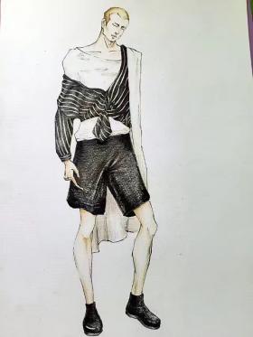在校期间服装设计手绘7
