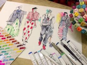 在校期间服装设计手绘9