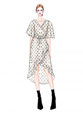 时尚女人连衣裙