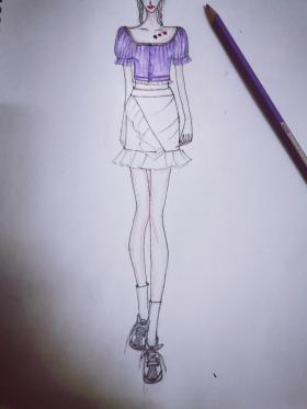 紫色衬衫女夏泡泡袖轻熟短袖方领宫廷风白色设计感小众收腰上衣